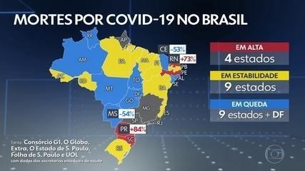 Brasil registra 264 mortes por Covid nas últimas 24 horas, mas sem dados de quatro estados