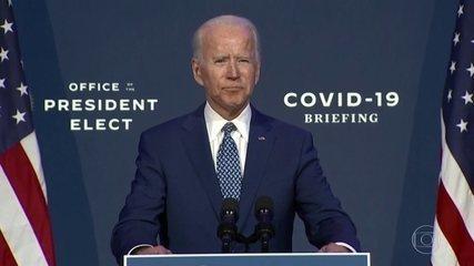 Biden colocou o combate à pandemia como uma das prioridades dos primeiros meses de governo