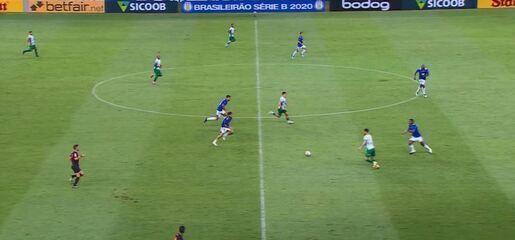 Os gols de Cruzeiro 3 x 3 Guarani, pela 21ª rodada da Série B