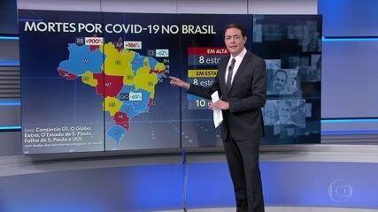 Brasil registra 926 novas mortes por Covid após atualização de dados atrasados