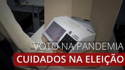 Eleições municipais: simulação mostra o passo a passo de como votar seguindo os protocolos
