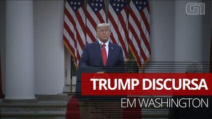 Donald Trump fala pela primeira vez após vitória de Biden ser anunciada