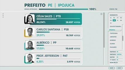 Célia Sales, do PTB, é reeleita prefeita de Ipojuca