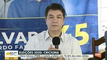 Prefeito de Criciúma reeleito descarta realização de concursos e quer reduzir folha