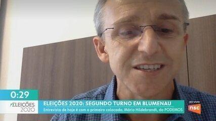 JA entrevista o primeiro colocado no 1º turno de Blumenau, Mário Hildebrandt, do Podemos