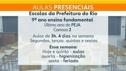 Rio retoma aulas presenciais nesta terça-feira (17)