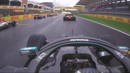 A largada de Valtteri Bottas no GP da Turquia