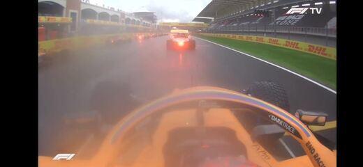 A largada de Carlos Sainz no GP da Turquia