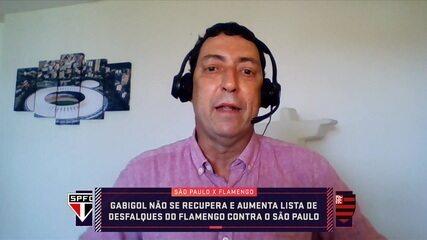 Lesionado, Gabigol desfalca o Flamengo contra o São Paulo pela Copa do Brasil