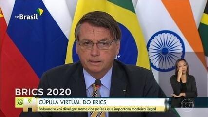 Brics: Bolsonaro promete divulgar países que compram madeira ilegal
