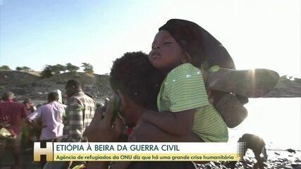 Etiópia enfrenta crise humanitária em larga escala, diz agência da ONU