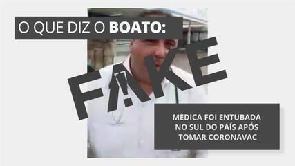 É #FAKE que médica foi entubada no Sul do país após tomar CoronaVac