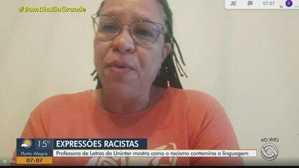 Professora de Letras da Uninter alerta sobre o uso de expressões e palavras racistas