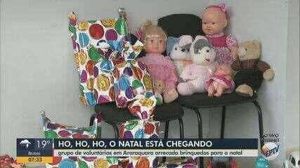 Campanha de Natal arrecada brinquedos para crianças carentes em Araraquara