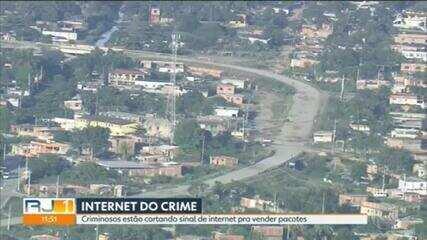 Criminosos obrigam moradores de São Gonçalo a cortar sinais de internet para vender pacotes próprios