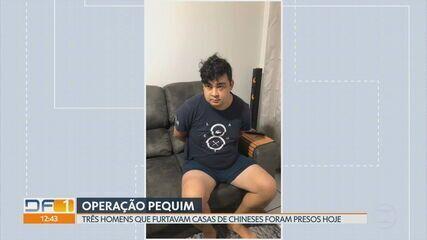 Três homens que invadiam casas de chineses no DF são presos