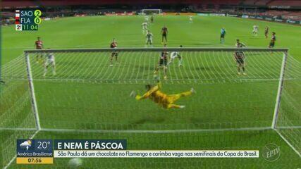 São Paulo vence Flamengo e carimba vaga nas semifinais da Copa do Brasil