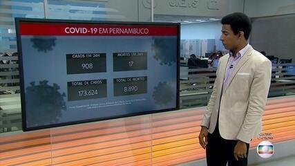 Pernambuco confirma mais 908 casos e 17 óbitos por Covid-19