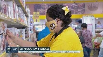 Inaugurações de supermercados abrem 320 vagas de trabalho em Franca, SP