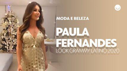 Paula Fernandes mostra seu look para o Grammy Latino 2020