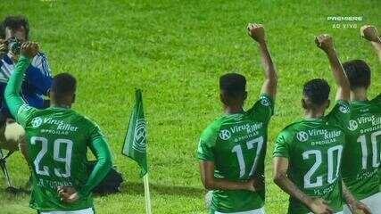 Gol do Guarani! Junior Todinho aproveita a sobra na área e amplia aos 19' do 2º