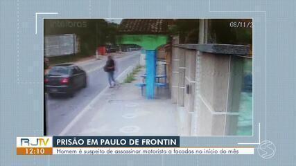 Suspeito de matar homem a facada é preso pela Polícia Civil em Paulo de Frontin