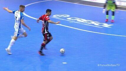 Os gols de Pato 1 x 5 Joinville, pela Liga Nacional de Futsal