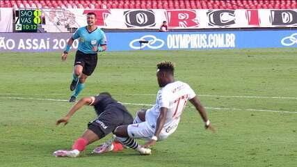Melhores momentos: São Paulo 1 x 1 Vasco pela 22ª rodada do Campeonato Brasileiro