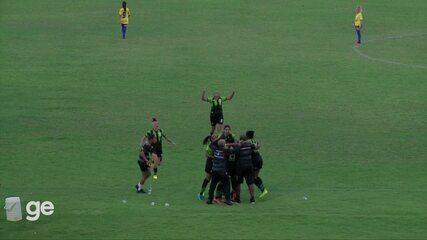 Os gols de Tiradentes-PI 0 x 1 América-MG pelas oitavas de final do Brasileiro Série A2