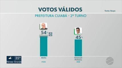 Pesquisa Ibope: Veja os números da intenção de votos válidos para o 2º turno em Cuiabá