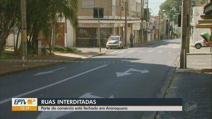 Ruas e lojas ficam fechadas no Centro de Araraquara após tentativa de assalto
