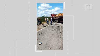 Acidente entre caminhões deixa motorista morto na BR-116, na Bahia