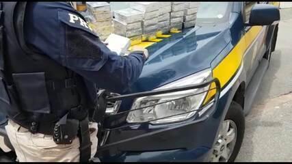 PRF apreende mais de 30 quilos de cocaína em carro com mulher grávida em João Monlevade