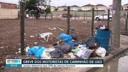 Em dois dias de greve, 4 mil toneladas de lixo já se acumulam nas ruas da Grande Vitória