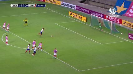 O gol de Bahia 1 x 0 Unión Santa Fe, pelas oitavas de final da Copa Sul-Americana