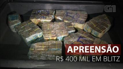 VÍDEO: Policiais apreendem R$ 400 mil durante blitz em Belo Horizonte
