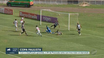 Primavera quebra invencibilidade do XV de Piracicaba e avança em 2º lugar na Copa Paulista