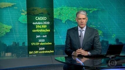 Em outubro o Brasil gerou quase 400 mil empregos com carteira assinada
