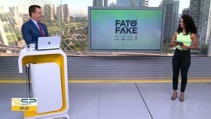 Veja o que é Fato ou Fake nas declarações dos candidatos à Prefeitura de SP