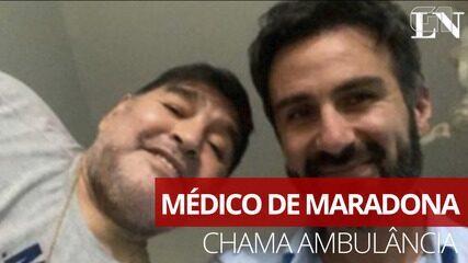 Ouça o áudio da ligação do médico de Maradona ao chamar a ambulância