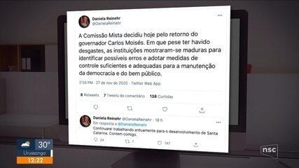 Após decisão sobre processo de impeachment, vice se manifesta em rede social