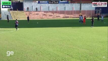 Maricá vence o Sampaio Corrêa e vai à final da Taça Corcovado. Créditos: Maricá FC TV