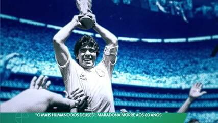 """""""O mais humano dos deuses"""": Maradona morre aos 60 anos"""