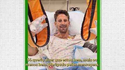 Romain Grosjean manda recado para apoiadores após acidente no GP do Barein