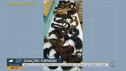 Mais de 40 mechas de cabelo foram furtadas em Porto Alegre