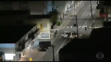 Quadrilha troca tiros com a polícia em Criciúma após tentativa de assalto à Caixa