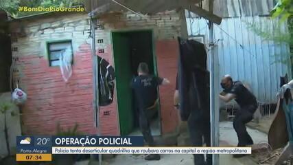 Polícia desarticula quadrilha que roubava carros em Porto Alegre e Região Metropolitana