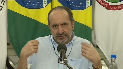 Alexandre Kalil, prefeito de BH, dá entrevista à GloboNews. Veja um trecho.