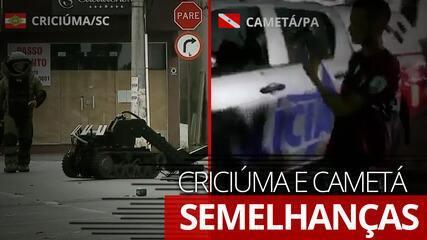 VÍDEO: Veja as semelhanças entre as ações em Criciúma e Cametá
