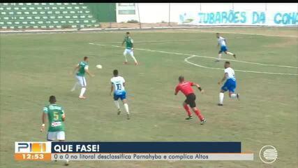 Altos e Parnahyba ficam no empate sem gols no litoral